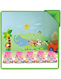 Newest Cute Cartoon Haversack Bags For Kids, Boys Or Girls To Keep B'day Return Gifts (Pack Of 6 Pcs.)