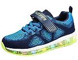 Mr.Ang Kinder Schuhe mit Licht LED Schuhe USB Aufladen Leuchtend Sportschuhe Sneaker Laufschuhe Turnschuhe Trainer Blinkschuhe Schuhe Für Mädchen Jungen 26-36