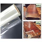 Hoho transparente brillant Scratch film de protection 2mil meubles Autocollant de protection anti Huile de cuisine Maison Décoration (152cmx50cm)