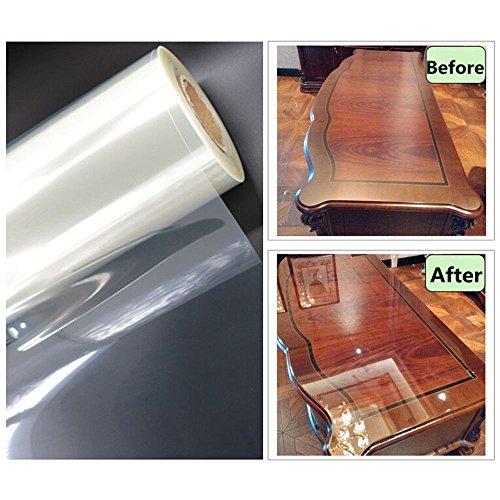 hoho 4Mil transparente brillante película de protección contra arañazos muebles Protector adhesivo...