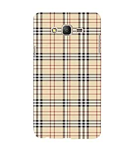FUSON Plaid Striped Fabric 3D Hard Polycarbonate Designer Back Case Cover for Samsung Galaxy On7 G600Fy :: Samsung Galaxy Wide G600S :: Samsung Galaxy On 7 (2015)