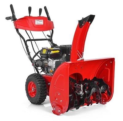 Hecht Schneefräse 9562 SE , Benzin - Motor, E-Start und Seilzug, Mit Licht, 62 cm, 5 Vorwärts- 2 Rückwärtsgänge