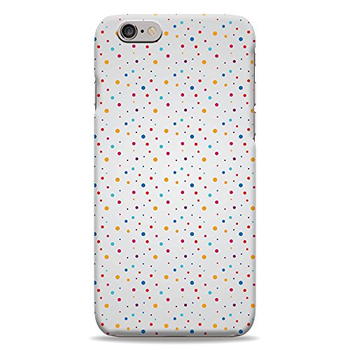 Pastel Zoom Zoom Dots 3D Printed Design iPhone 6 Plus Hard Case Protective Cover Shell