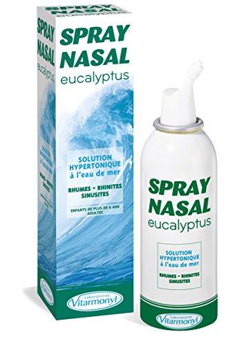 VITARMONYL - Spray Nasal Eucalyptus Et Eau de Mer - Hypertonique Décongestionnant - 125 ml - Lot de...
