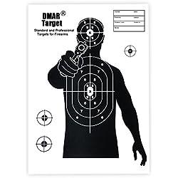 DMAR 42×30cm 22pcs Cible pour Le tir à l'arc, cibles tir à l'arc et cibles d'armes à feu,Cible Papier