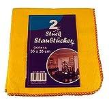 6 x 2 Staubtücher aus Baumwolle in gelb, Staubtuch, Baumwolltuch