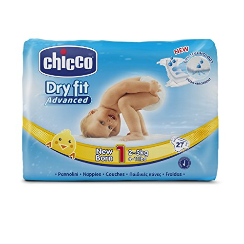 Chicco Dry Fit Advanced Set di 27 Pannolini Taglia 1 newborn