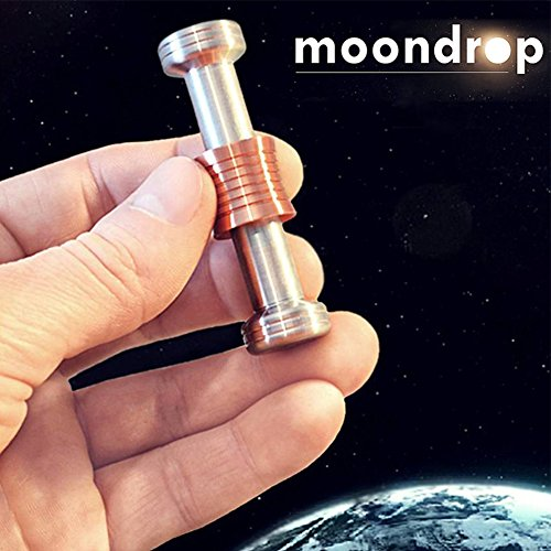 Ocamo Free Fall Fidget Toy Desk Display Gravity of The Moon Drops Fidget Hand Spinner Metal Science for Adults Children