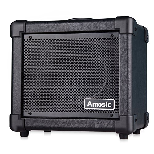 Amosic Electric Guitar Amplifier 10W, Combined Guitar Amplifier Powered by Batteries / Adapter, Audio Cable Included