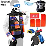 Meiqils 45pcs Gilet Tactique pour Nerf Guns, L'Enfants N-Strike Elite Series-1 Masques, 1 Sac de...