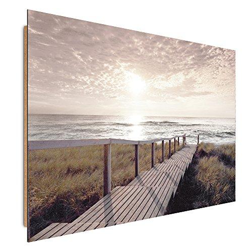 Feeby Frames, Wandbild, Deco Bild, gedrucktes Bild, Deco Panel, Bild, 70x100 cm, NATUR, ANSICHT, MEER, DUNE, GELB, WEIß (Platten Weißes Papier Und Gelbes)