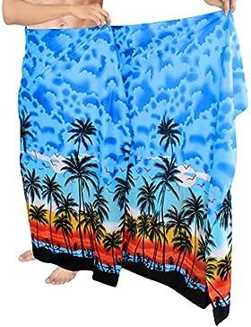 *La Leela* likre spiaggia del mare spiaggia stampato nuotata hawaiani sarong maschile
