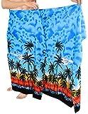 La Leela likre playa del mar playa impresa hawaiano de natación pareo azul brillante de los hombres