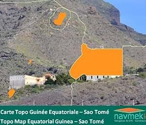 Navmek - Carte Topo Guinée Equatoriale & Sao Tomé pour Garmin - MicroSD/SD