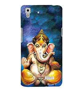 FUSON Shree Lord Ganesha Painting 3D Hard Polycarbonate Designer Back Case Cover for Oppo R7 :: Oppo R7 Lite