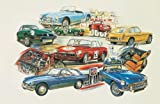 MG auto Art Print/Poster–MGA twin-cam 1600MGB GT V8MGC MGB MK1Racer MG GTS