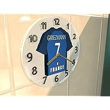 UEFA européenne International–Football FIFA International équipes de football–Maillot de football Horloge murale–N'importe Quel Nom, n'importe quel Nombre, n'importe quelle équipe., Homme Femme Enfant, France FIFA International Football Team Wall Clock