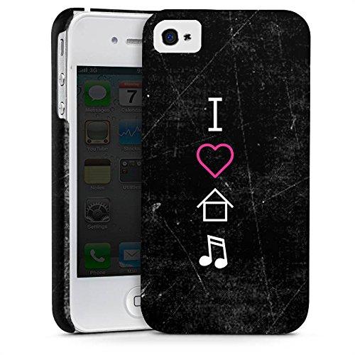 Apple iPhone X Silikon Hülle Case Schutzhülle House Musik Liebe Premium Case glänzend