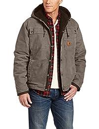 Carhartt robuste toile de coton à capuche veste d 'hiver J284, couleur:gris;pointure:XL