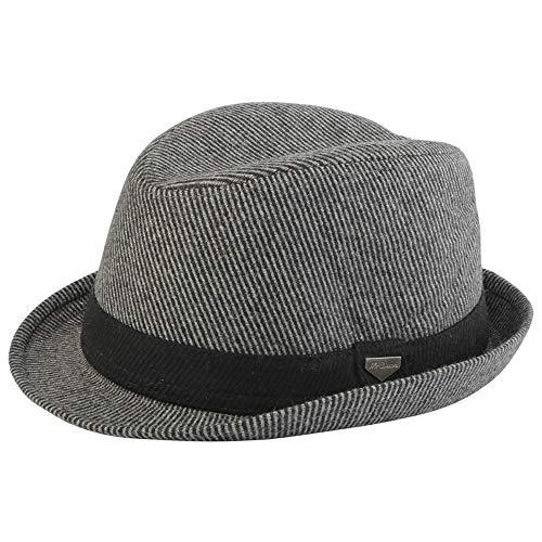 LLP-HAT Fedora Hut Wollhut Herren Panama Hut Snap Brim Weiche feine weibliche warme Mütze (Farbe : Grau, Größe : 56-59cm) Snap Brim Hut