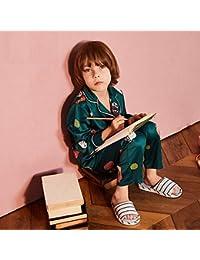 WANG-LONG Pijamas De Niños Conjunto De Pijamas Camisones Ropa De Dormir Ropa De Noche Chico Primavera Otoño Hielo Seda…