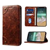 iPhone 8 Plus Hülle - Leder Flip Wallet Book Case Tasche für iPhone 7/8 Plus - Juleya #1207SJK02