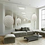 Fotomurales Personalizado Mural de pared Pintura de pared grande Moderno 3D Estereoscópico Arte abstracto Espacio Bola blanca Sala de estar TV Telón de fondo Papel tapiz 3D 3D 250x175cm