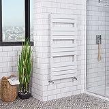 Designer Handtuchheizkörper Badheizkörper 1200x600mm Weiß