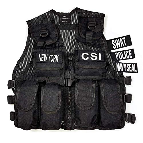 SWAT Weste Kinder New York / Navy Seals /CSI / Polizei-Weste Soldat Verkleidung Einsatz-Weste Jungen Geschenkidee Kinderkostüm Militär Agent top ()