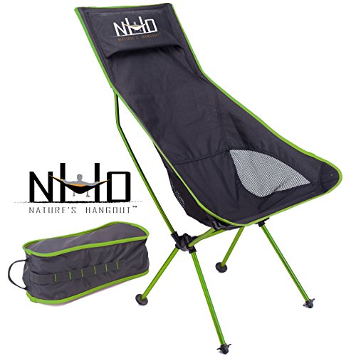 122da2513edf Nature's Hangout #1 Ultralight Camping Chair - Folding Compact Lightweight  & Portable. Comfortable Design. Best For RV Outdoor Hiking Fishing Hunting  ...