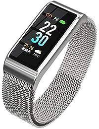 Smartwatch mit Pulsmesser, H.M.D Fitness Armband Wasserdicht IP67 Fitness Tracker Aktivitätstracker Pulsuhren mit Kalorienzähler Schlafmonitor Rufen Sie Erinnerung für Damen Herren für Android