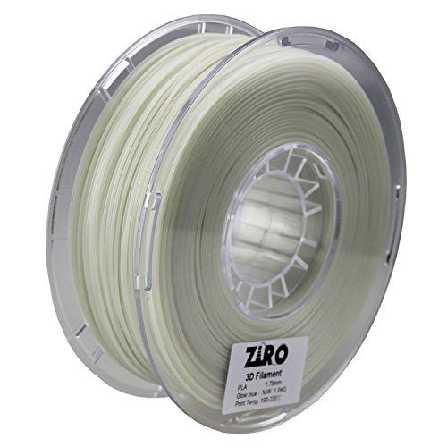confronta il prezzo Ziro 3D stampante filamento PLA 1.75mm Glow in the Dark color Series 1kg (1kilogram), Dimensional precisione +/-0.05mm miglior prezzo