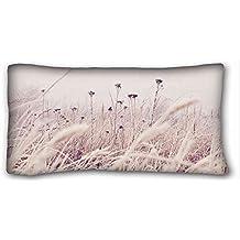 Carcasa algodón y poliéster suave (animales gato Grasss píos) Popular 20x 36(One side pizza Rectángulo funda de almohada de apto para dobles pc-orange-23222