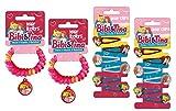 Craze 14578 Hair Accessoires Bibi und Tina, 4 Rollys und 12 Haarspangen, unisex-child