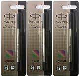 Parker Parker PARKER REFILL x 3 ROLLER MEDIUM BLACK NEW QUINK ORIGINAL