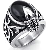 Men's Stainless Steel Eagle Claw Ring (Ring Size 9)