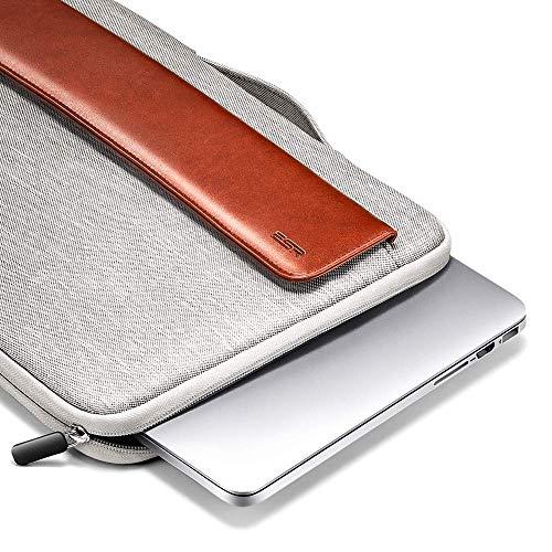 ESR Tablet Hülle für 13.3 Zoll Laptoptasche Handtasche Ultrabook Sleeve Case mit Zusätzlichem Stauraum für MacBook Air/Pro/Retina Display 12,9 Zoll iPad/MacBook Pro 13 Hülle,Braun 13.3 Display