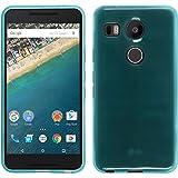 PhoneNatic Custodia Compatibile con Google Nexus 5X Cover Turchese Trasparente Nexus 5X in Silicone + Pellicola Protettiva