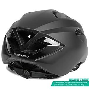 Basecamp ACE Cycle Helmet Road Bike Aero Helmet (Team Black)