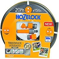 Hozelock Tricoflex Ultramax Tuyau d'arrosage kit de démarrage Gris 50 x 40 x 30 cm