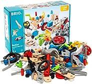 BRIO 34587 Builder Bygg och konstruktionssats | Builder Construction Set 136 delar. Byggsats (STEM-leksak) i t