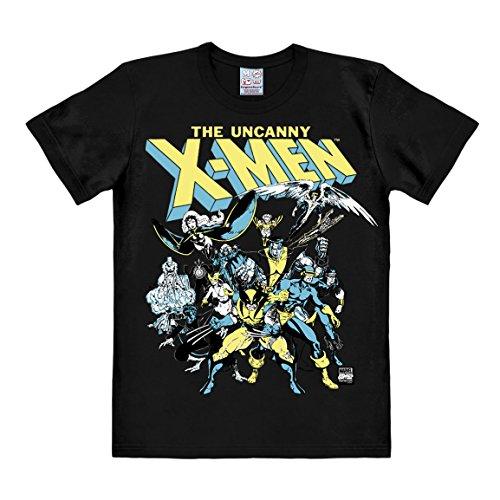 T-shirt X-Men - Il gruppo - maglia Marvel Comics - X-Men - The Group - maglietta girocollo di LOGOSHIRT - nero - design originale concesso su licenza, taglia L