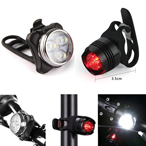 Vovotrade® Recargable LED Bicicleta Ligero Conjunto