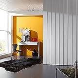 3D Figure Wandpaneel und Deckenpaneel Weiß 1190 x 197 mm, 3x 6 mm Stärke, 3x 10 mm Stärke