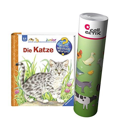 Ravensburger Junior Buch 2-4 Jahre | Die Katze + Kinder Bauernhof Tiere Poster (Tun Wie Seiten Viele)