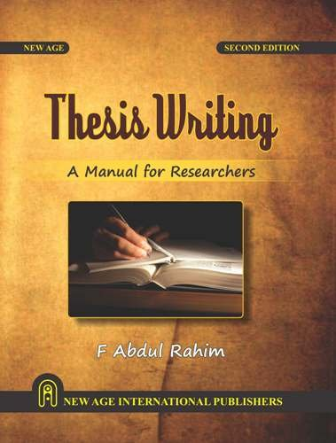 Thesis Writing: Manual for All Researchers