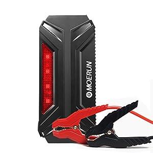 Car Jump Starter de 18000mAh, 800A Batería Arrancador de Coche con el puerto de carga de USB de 5V, 12V/16V/19V para cargar el ordenador portátil, la pantalla de LCD, la luz de flash de LED