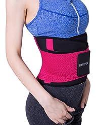 Darchen Ceinture Abdominale de Musculation Sudation Femme pour Sport Perte de Graisse Rosé