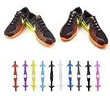 Lacets Elastique Never tie it Lacets Imperméables en Silicone pour Chaussure Adults et Enfants Sports Shoes Sneaker Conseil -Couleur Divers phosphorecent - couleur aléatoire
