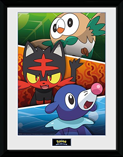 GB-eye-pokemon-alola-asociados-Impresin-enmarcada-multicolor-30-x-40-cm